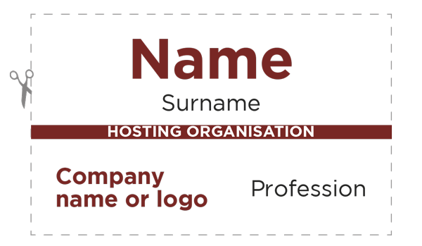 BNI Badge Layout For Free Over Generated Plus Free Trial - Visitor badge template